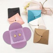 20Sets Schmuck Dispaly Papier Karton Ohrringe Displays Kraft Karten Verpackung Umschlag Taschen Für Diy Schmuck Machen Display Crads