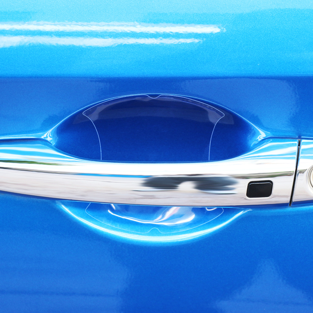 5Pcs Car door handle stickers protector film for Kia Rio K2 K3 K4 K5 KX3 KX5