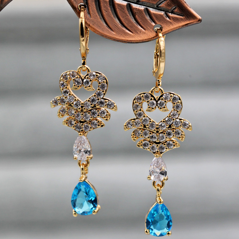 Hf003c320be324b1bb6f757b3e9d33aeev - Trendy Vintage Drop Earrings For Women Gold Filled  Red Green Pink Lavender Zircon Earrings Gold  Earring Wedding  Jewelry