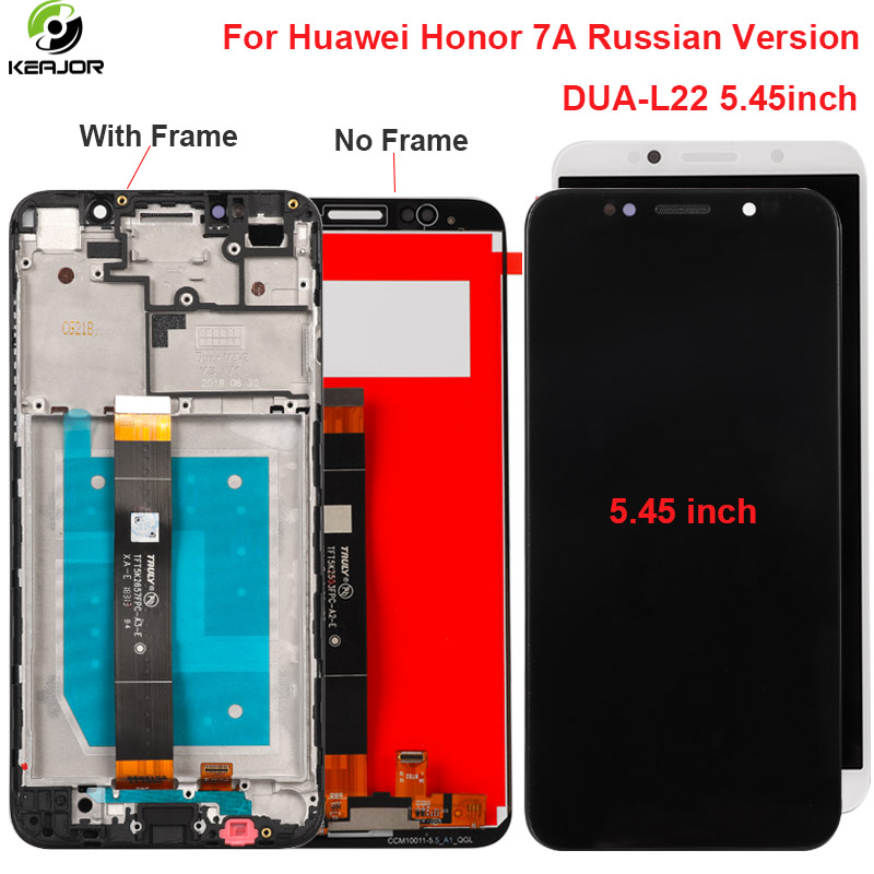 For Huawei <font><b>Honor</b></font> <font><b>7A</b></font> LCD <font><b>Display</b></font> Touch Screen With Frame Digitizer Replacement Assembly For <font><b>Honor</b></font> <font><b>7A</b></font> <font><b>Display</b></font> RU Version DUA-L22 image
