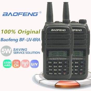 2PCS New Baofeng UV-6RA Walkie Talkie 5W VHF&UHF 1800mAh Transceiver UV6rBaofeng Uv 6R Suitable For Cb Radio Range Radio Station