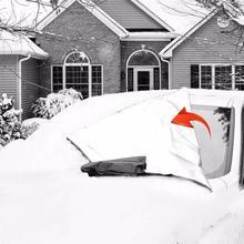 Чехол на лобовое стекло снег и лед для автомобиля Защита от мороза зимний протектор Магнитный авто солнцезащитный экран лобовое стекло половина покрытие автомобиля Прямая поставка