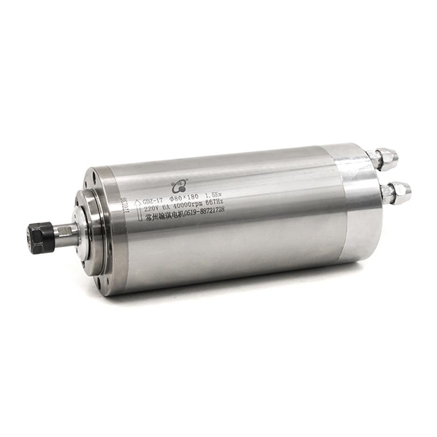 Шпиндель высокоскоростной GDZ 17-80-40Z/1.5 (1.5кВт) cnc machine hqd ЧПУ шпиндель