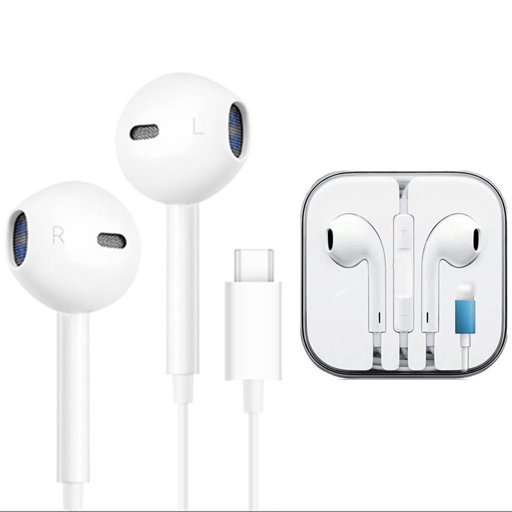 Wired Earphone For A Pple IPhone 8 7 Plus X XS MAX XR IPod Microphone Stereo Type C Earphones Earbud For Huawei Mate20 Dropshipp