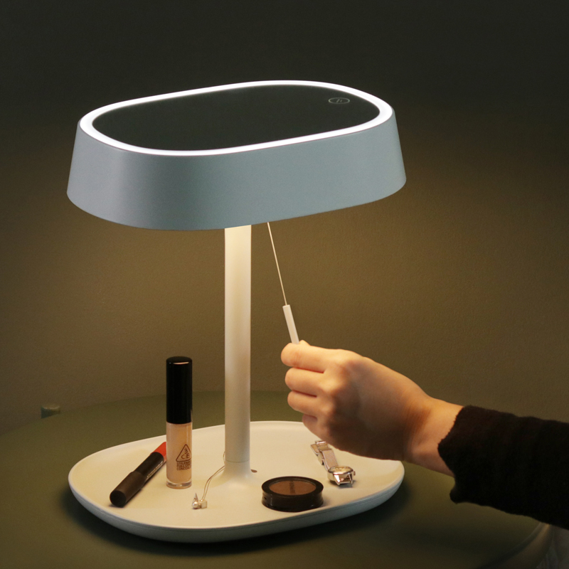 Web Celebrity LED Table Lamp Makeup Mirror Dimming Receive Desktop Fill Light Dual-purpose Flip Atmosphere Lamp Makeup Mirror