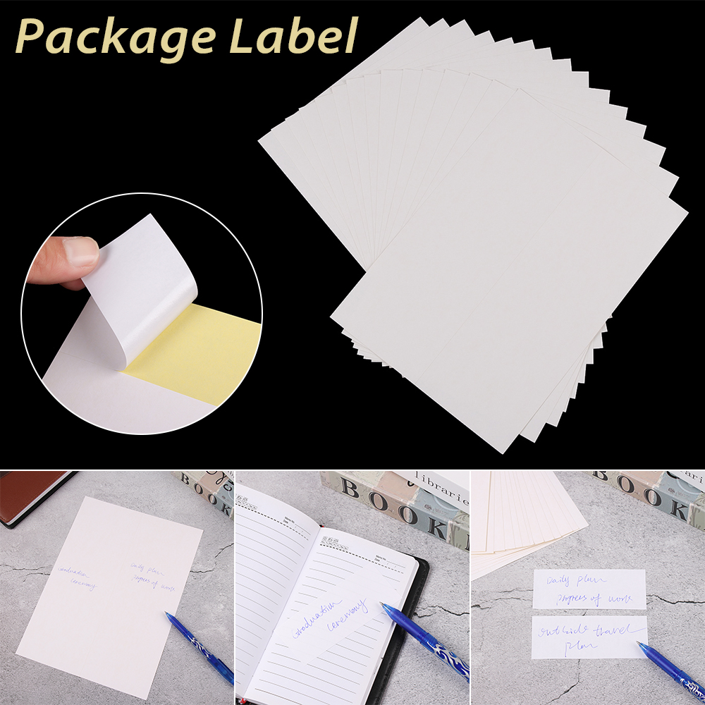 5/10Sheet A4 Self Adhesive Label Sheets Free Laser Stickers Inkjet Printer Die Cut Stickers Office School Supplies Package Label