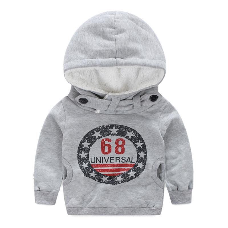 Children Winter Thicker Boys Sweatshirts Coat Long Sleeve Kids Coat Fit 2-7ages for Winter Autumn Kids Sweater Hoodies SAILEROAD 2