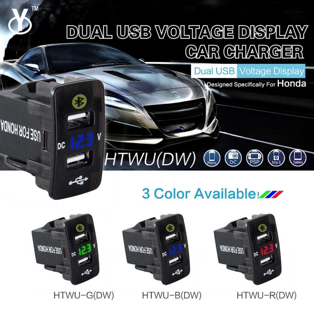 Auto Accessoires Interieur Auto Gps Tracker Honda Civic Jazz Locatie Parking Autolader 12V 24V Dual Usb Spanning monitoring