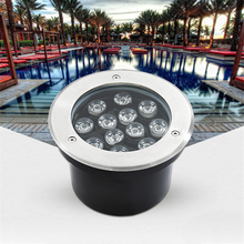 LED Underground Light 9W 12W  Floor Lamp Outdoor Ground Spot Landscape Garden Square Path Buried Yard AC12V/24V IP68 Spotlight