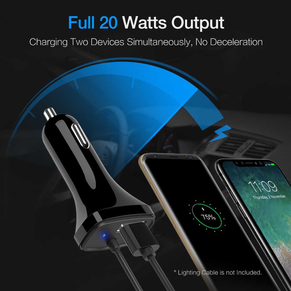 RAXFLY 5V 3A cargador de teléfono USB para coche cargador de coche para Samsung Huawei cargador rápido tipo USB C para Samsung Redmi Note 7