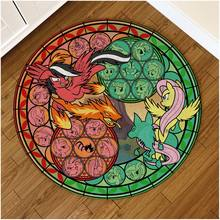 Pokemon Pocket Monsters Pikachu Cute Anime Comic Pattern Carpet Living Room Door Mat Non-slip Chair Cushion Round N(China)