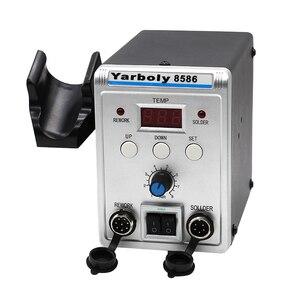 Image 5 - Паяльная станция 8586, паяльник с корпусом BGA, системой SMD с вентиляторным воздухонагревателем, умным обнаружением и сваркой холодным воздухом