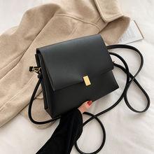 Осенне зимняя простая маленькая сумка в стиле ретро женская