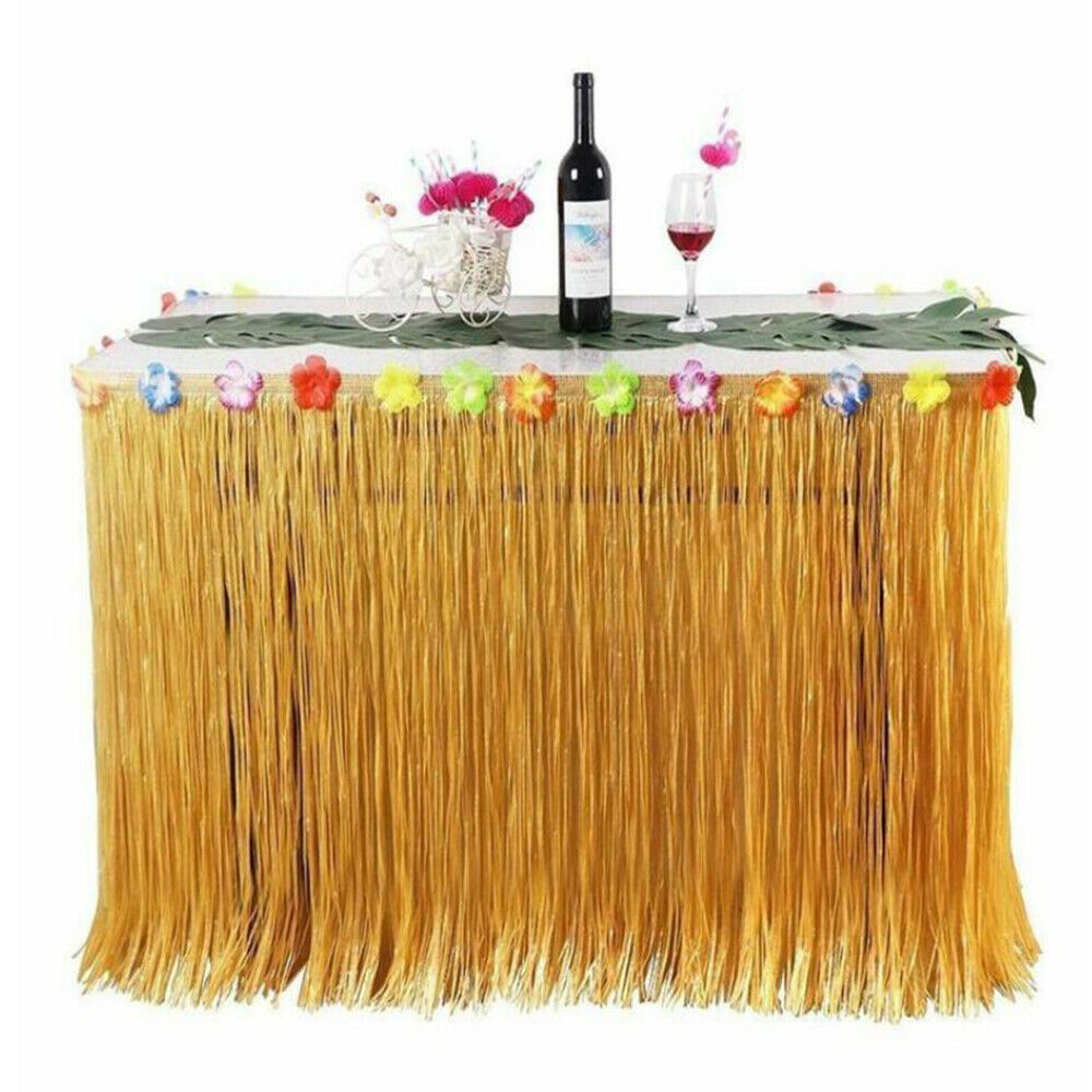Hawaiian Party Table Skirt Hawaii Party Tropical Decorations Wedding Happy Birthday Summer Luau Beach Party Decor
