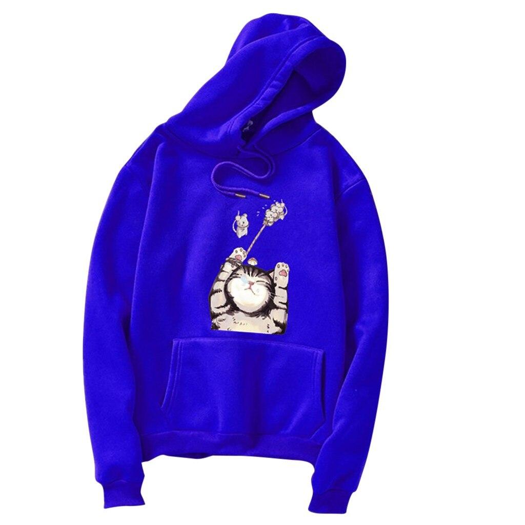 Hoodie Women Cartoon Long Sleeve Hooded Sweatshirt With Pocket Spring Casual Женская толстовка Sudadera Mujer Damska Bluza OY40*