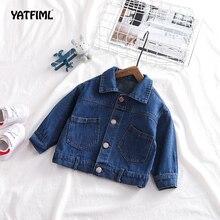 YATFIML/джинсовая куртка для маленьких мальчиков; осенние куртки для мальчиков и девочек; детская верхняя одежда; пальто для мальчиков; джинсовая куртка