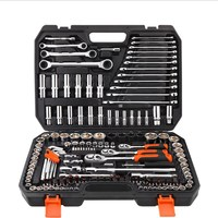 Car Tool Set Socket Wrench Auto Repair Tool Fast Ratchet Wrench Combination Multi function Toolbox Set