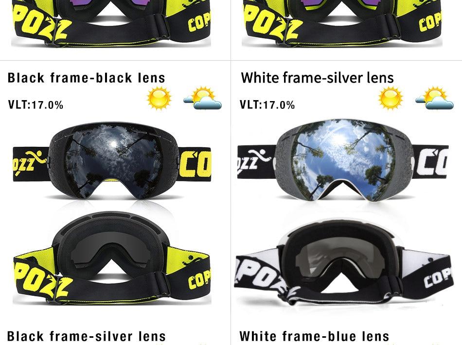 Hf004ef88560a45d48c751dd482c411d9W - Ski Goggles Men Women Snowboard Goggles Glasses for Skiing UV400 Protection Skiing Snow Glasses Anti-Fog Ski Mask