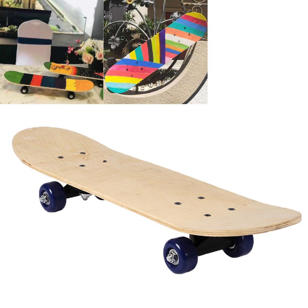 Blank Complete Skateboard Duble Kick Deck Concave Skateboards Longboard DIY Painting Drawing Coloring on Longboard Decks