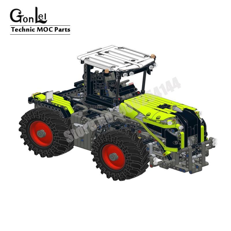 Новый мотор для модификации пульта дистанционного управления, набор кирпичей для 42054 CLAAS XERION 5000 TRAC VC высокотехнологичный строительный блок, кирпичи, игрушки для творчества 2