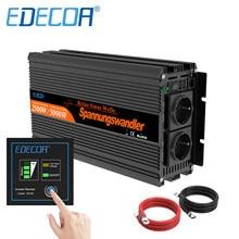 EDECOA 2500W 5000W Off Grid 12V 24V To 220v 230v 2500 Watt Rv Camping Pure Sine Wave Caravan Car Power Inverter