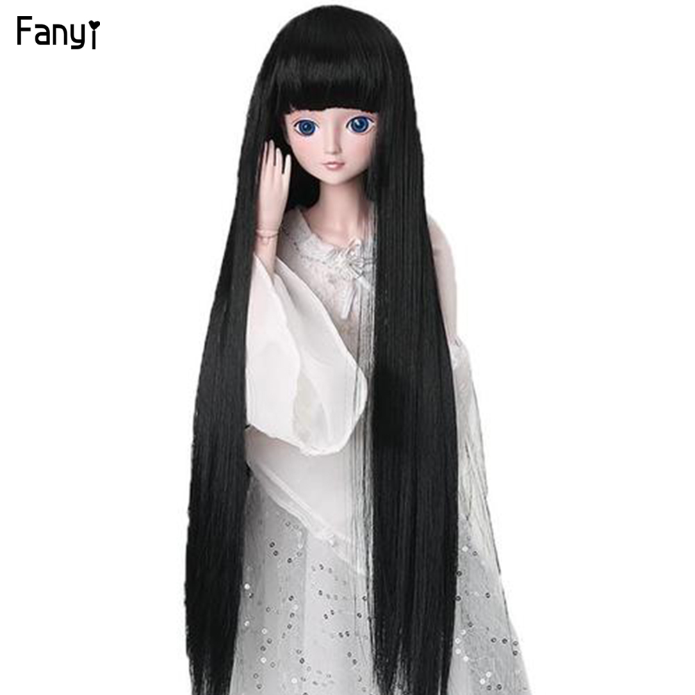 Straight Doll Wig Tress High Temperature Fiber Bright Color Hair For American BJD Girl Doll SD And Toy Accessories Doll Hair