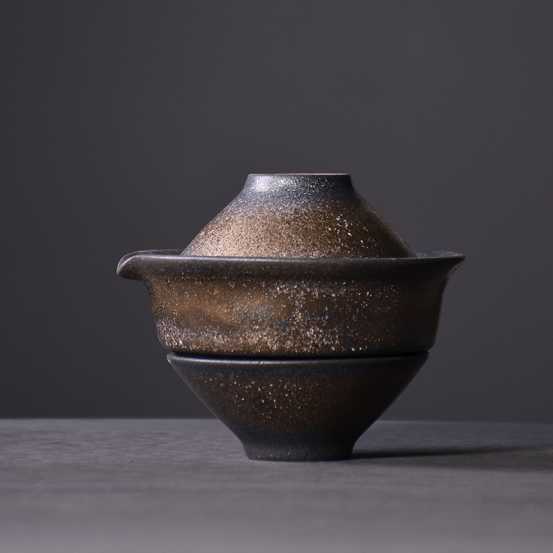 TANGPIN japan ceramic teapots with 2 cups portable travel tea sets drinkware