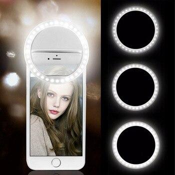 USB Charge Led Selfie Ring Light Mobile Phone Lens LED Selfie Lamp Ring for iPhone for Samsung Xiaomi Phone Selfie Light