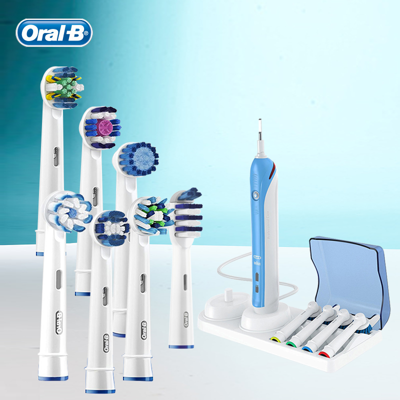 Oral B Replacement Brush Heads 3D Teeth Polish Whitening Dental Floss Clean Precision Nozzles For Rotary Toothbrush image