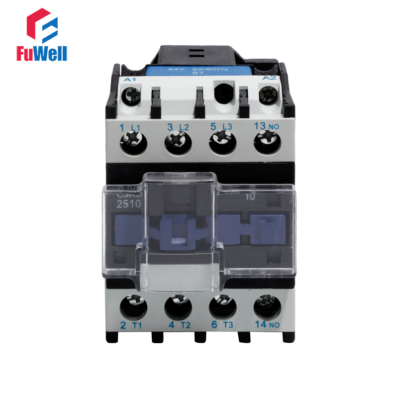 CJX2-2510 25A AC Contactor NO 24V 36V 48V 110V 220V 380V Coil Voltage Contactor Normal Open Alternating Current Contactor