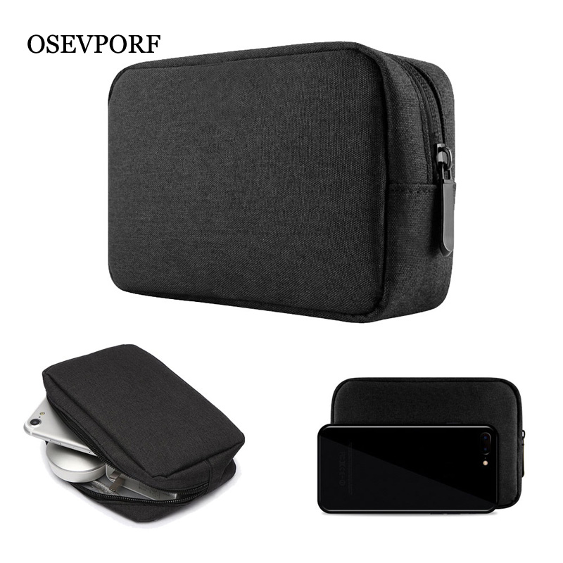 Power Bank Case Oxford Case Box for Headphone Earphones Hard Drive Disk USB Cable External Storage Carrying SSD HDD Phone Pouch