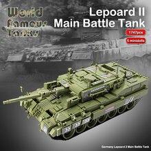 1747 pçs leopardo 2 principal batalha tanque blocos de construção tijolos militares conjunto modelo armas soldados do exército crianças brinquedos presentes para crianças