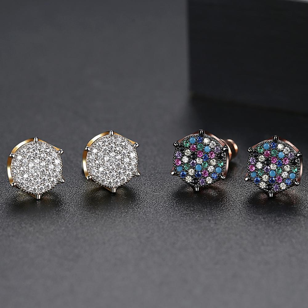 Pink Sakura Cubic Zirconia Earrings for Women in Rhodium Plated Wedding Decoration Fashion Jewelry Free Shipping