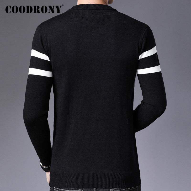 COODRONY Brand Sweater Men Casual O-Neck Pull Homme 2019 Autumn Winter Warm Knitwear Sweaters Pullover Men Jersey Hombre C1011