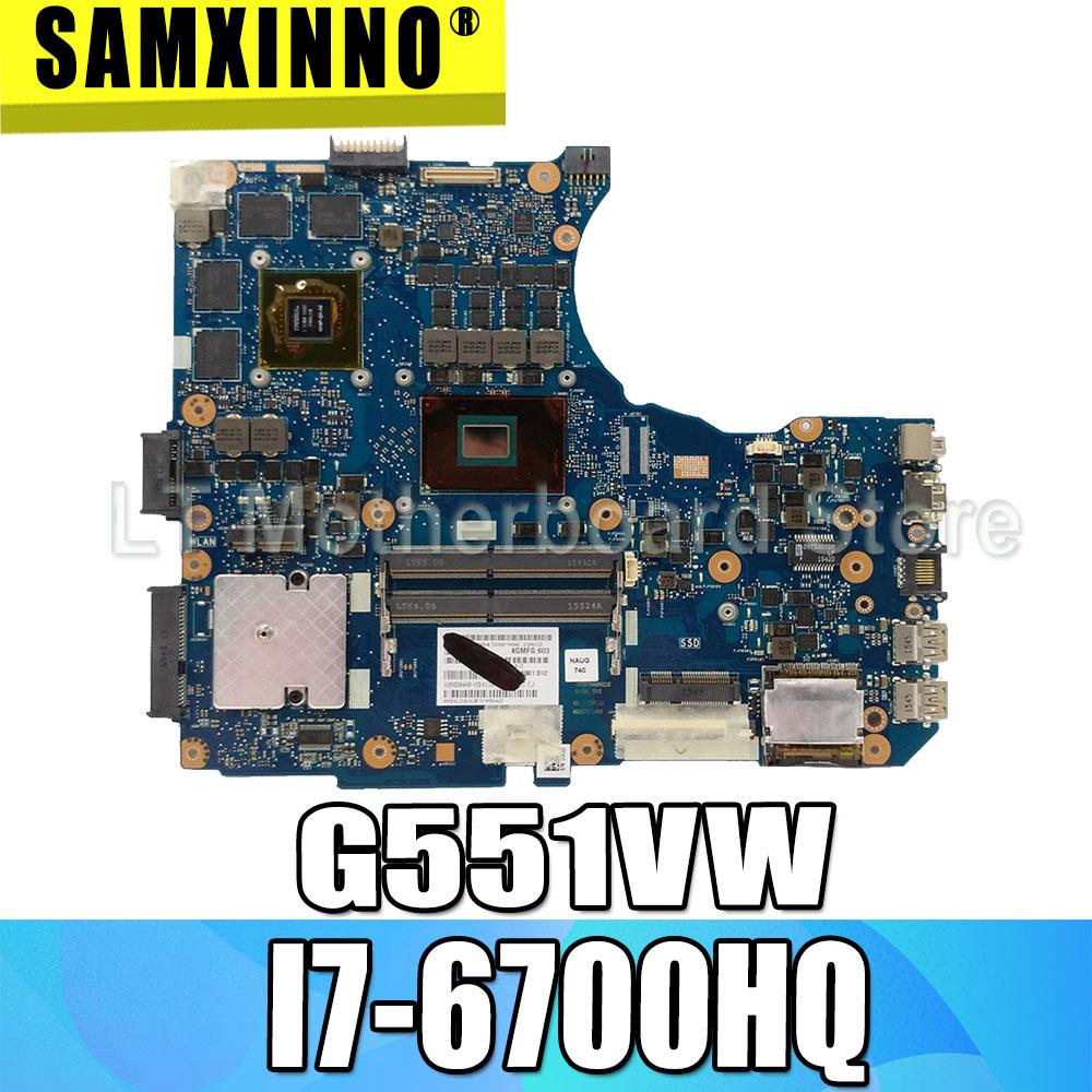 G551V motherboard I7-6700HQ For <font><b>ASUS</b></font> <font><b>N551V</b></font> G551V FX551V G551VW N551VW laptop motherboard G551VW mainboard G551VW motherboard image