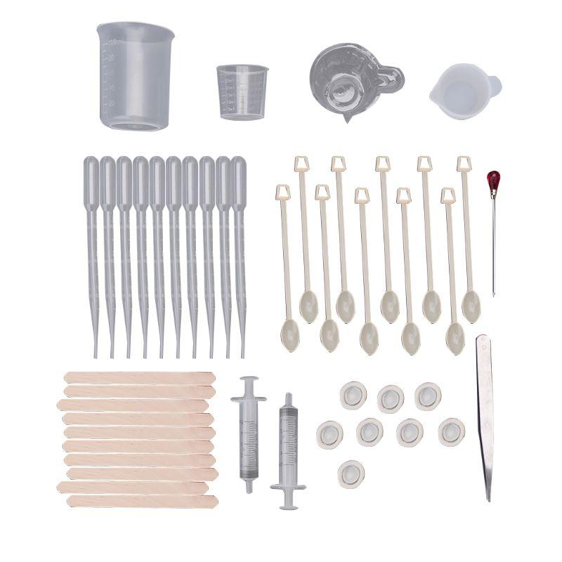 1 Set Plastic UV Manual Crafts Epoxy Mold Material DIY Resin Pendant Jewelry Making Tools