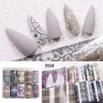 1set/lot 2.5*100cm Butterfly Spring Mix Flower Starry Sky Nail Foils set Transfer Sticker DIY Manicure Decoration Decals - 90