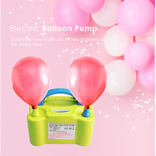 купить 110V US/220V EU Plug Portable Double Hole Inflatable Electric Balloon Pump Air Balloon Blower Pump High Voltage Inflator Machine по цене 1106.13 рублей