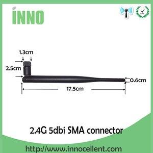 Image 4 - 2.4GHz WiFi אנטנה 5dBi אווירי RP SMA זכר 2.4g antena wi fi antenne wi fi נתב + 21cm PCI u. FL IPX לsma זכר צמת כבל