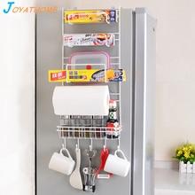 Fridge Side Storage Rack Multi-Function Organizer Kitchen Shelf Sidewall Multi-layer Holder