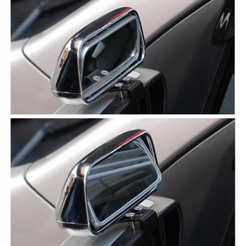 1Piece Universal Car Blind Spot Mirror Rotation Adjustable Rear View Mirror Wide Angle Lens For Parking Auxiliary Car Mirror fold car silver bonnet rear mirror exterior hoods covers blind wide angle rear side mirror rear glass for all cars universal