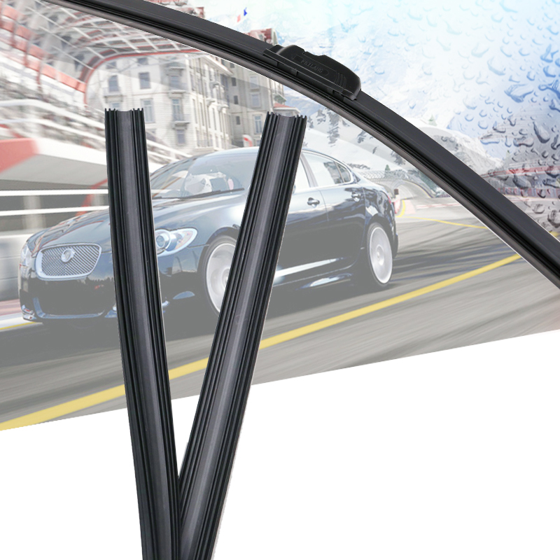 2pcs High Quality Boneless Frameless Rubber Car Wiper Blade Refill Strips Windscreen 6mm 26