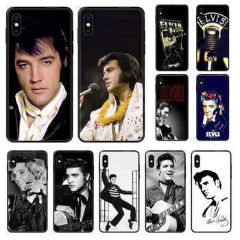 Singer Elvis Presley Phone case For iphone 4 4s 5 5S SE 5C 6 6S 7 8 plus X XS XR 11 PRO MAX 2020 black trend cell cover pretty image