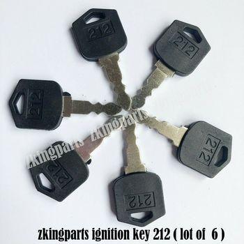 Wszystkie nowe 6 kluczyków rozrusznik silnika klucz D554212 pasuje do Daewoo i Doosan tanie i dobre opinie steel Fit For Daewoo and Doosan