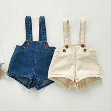Baby Overalls Kids Jumpsuit Shorts Girls Children Denim New Autumn Boys
