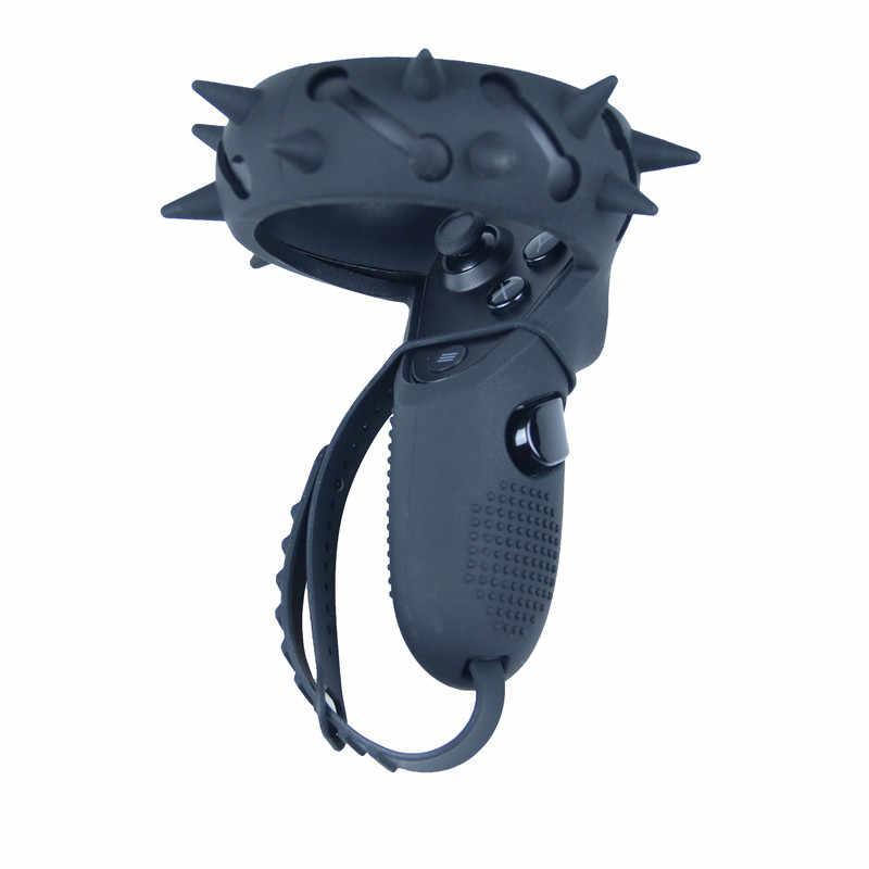Dokunmatik kontrol tutma kapağı koruyucu cilt mafsal kayış Oculus görev bilek kayışı Anti-Throw Anti-fall kolu aksesuarları