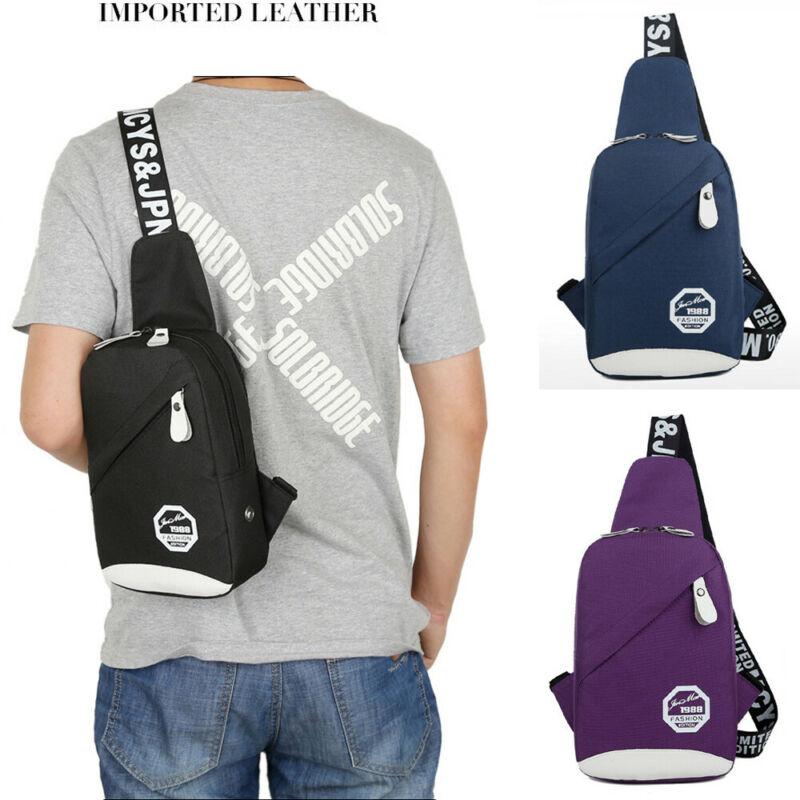Мужская нейлоновая уличная спортивная сумка на ремне небольшая сумка на ремешке нагрудный Рюкзак Холщовый usb зарядка спортивная сумка через плечо|Поясные сумки|   | АлиЭкспресс