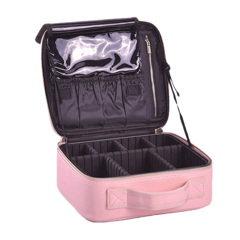 Portable Large Capacity Ladies Cosmetic Case Cosmetic Bag Multi-Layer Storage Box Travel Cosmetic Case Portable Hand Storage Cas