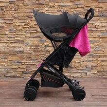 Accesorios universales para cochecito de bebé, visera colorida, cubierta de dosel, parasol resistente a los rayos UV para Yoyo Yoya + Pram