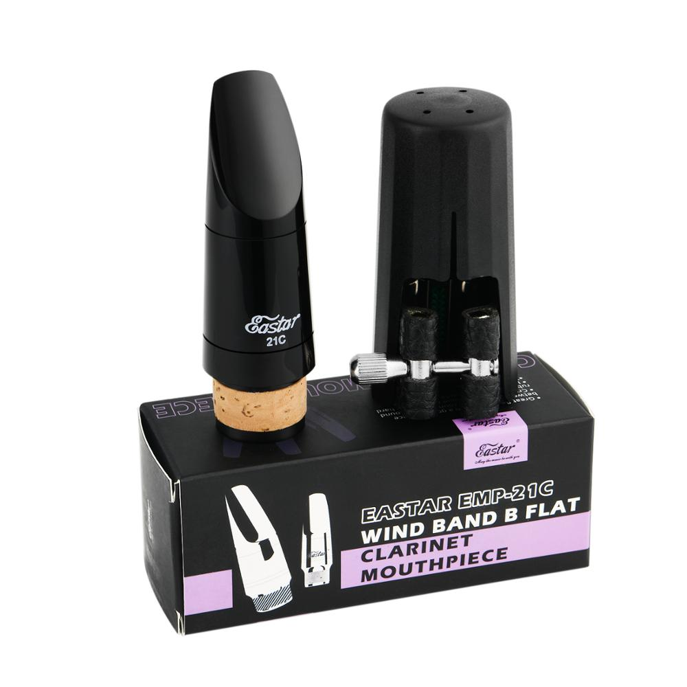 Eastar EMP-21C WIND BAND B Flat Clarinet Mouthpiece Pro With Caps French File Reeds Woodwind Instrument Accessories High Quality